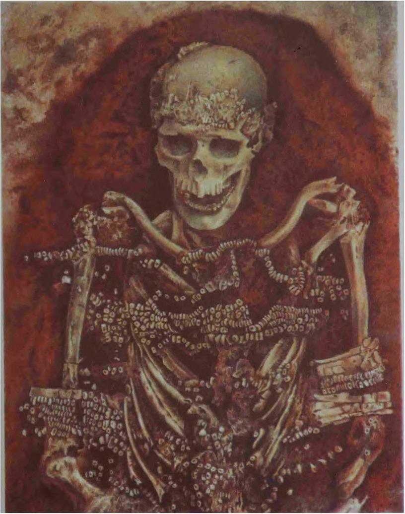 Рис. 4. Погребение па стоянке Сунгирь