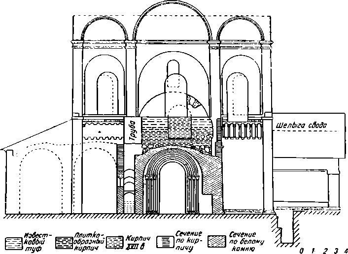 Рис. 44. Суздаль. Рождественский собор. Западный фасад.