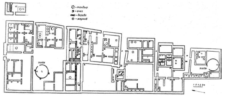 Рис. 6.29. Городской квартал. XI — XII вв. Талгар