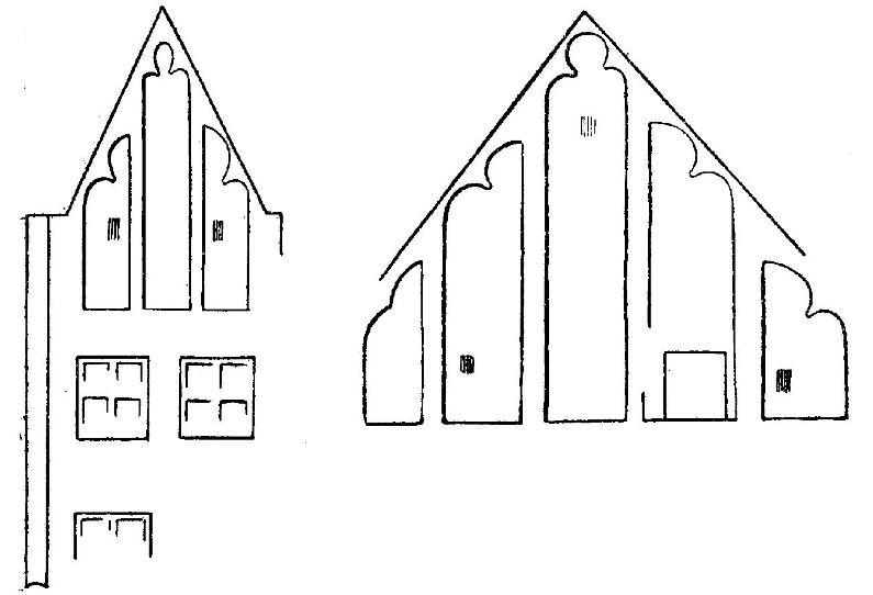 Рис. 18. Таллин. Схема обработки щипцов городского дома.