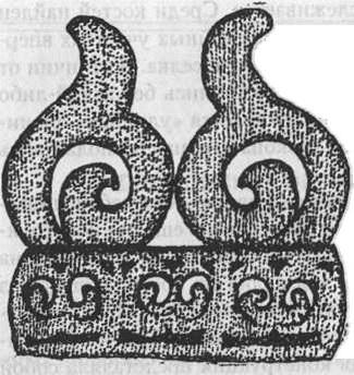 Рис.2. Поясная бляха из поселения Танай-4а