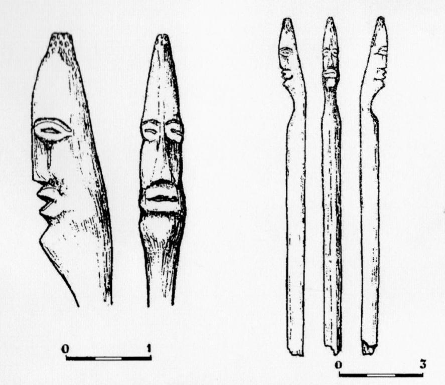 Рис. 2. Костяная скульптура из жилища 21