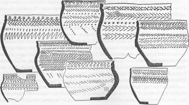 Рис. 3. Сосуды из поселения Танай-4