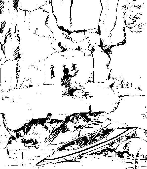 Рис. 28. Реконструкция выполнения росписей в Кутеней Каунти, Канада
