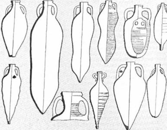 Рис. 39. Основні типи амфор IV-VI ст.