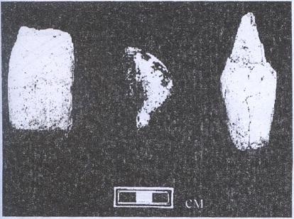 Рис. 25. Орудия (камень) с памятника Иня-11. НОШ 16972, 19638