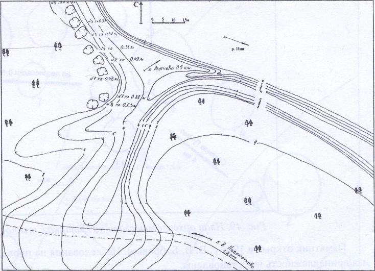 Рис. 47. План археологического памятника Новмотково-1