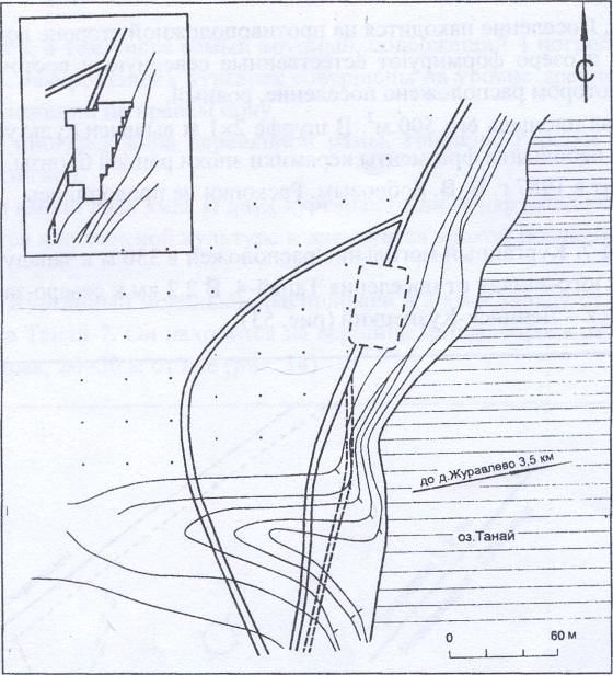 Рис. 52. План археологического памятника Танай-4А