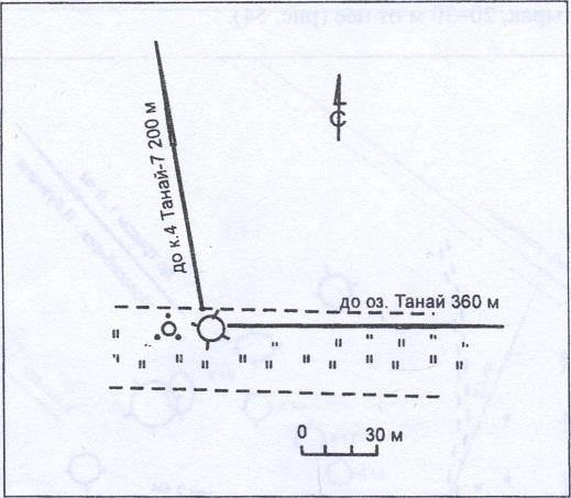 Рис. 55. План археологического памятника Танай-10