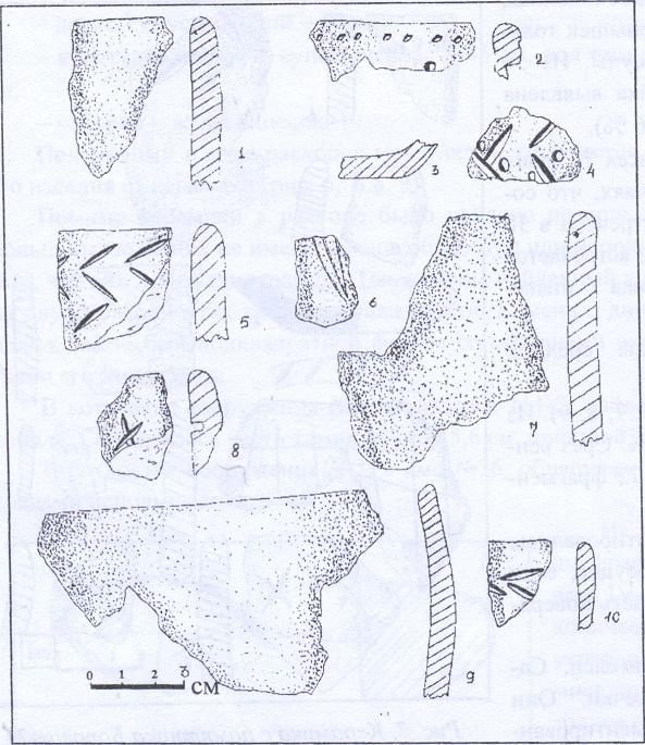 Рис. 9. Керамика с памятника Боровое-2