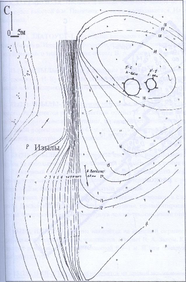 Рис. 10. План археологического памятника Вассино