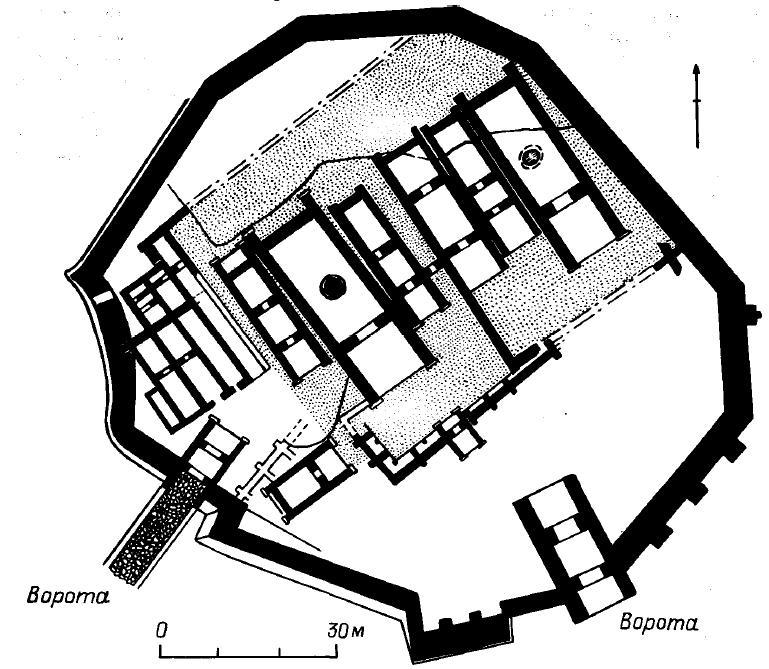 Рис. 27. Троя II. План поселения.