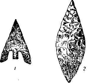 Рис. 146. Наконечники стрел бронзового и каменного века из Британии (1/2).
