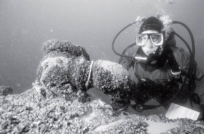 Рис. 18.2. Археологи-подводники ведут постоянную борьбу с разграблением древних мест кораблекрушений, которые защищены всего лишь частично