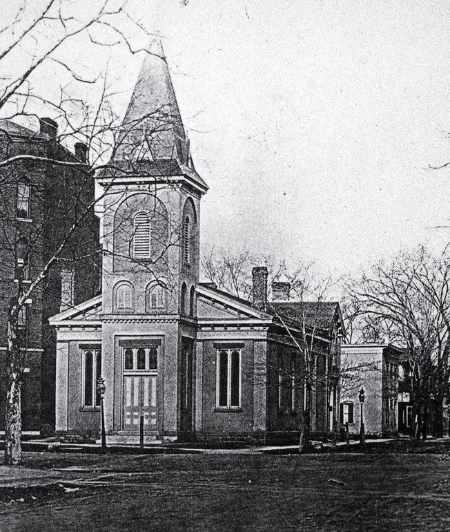 в — сторическая фотография Уэлианской Методической церкви, Сиракузы, штат Нью-Йорк
