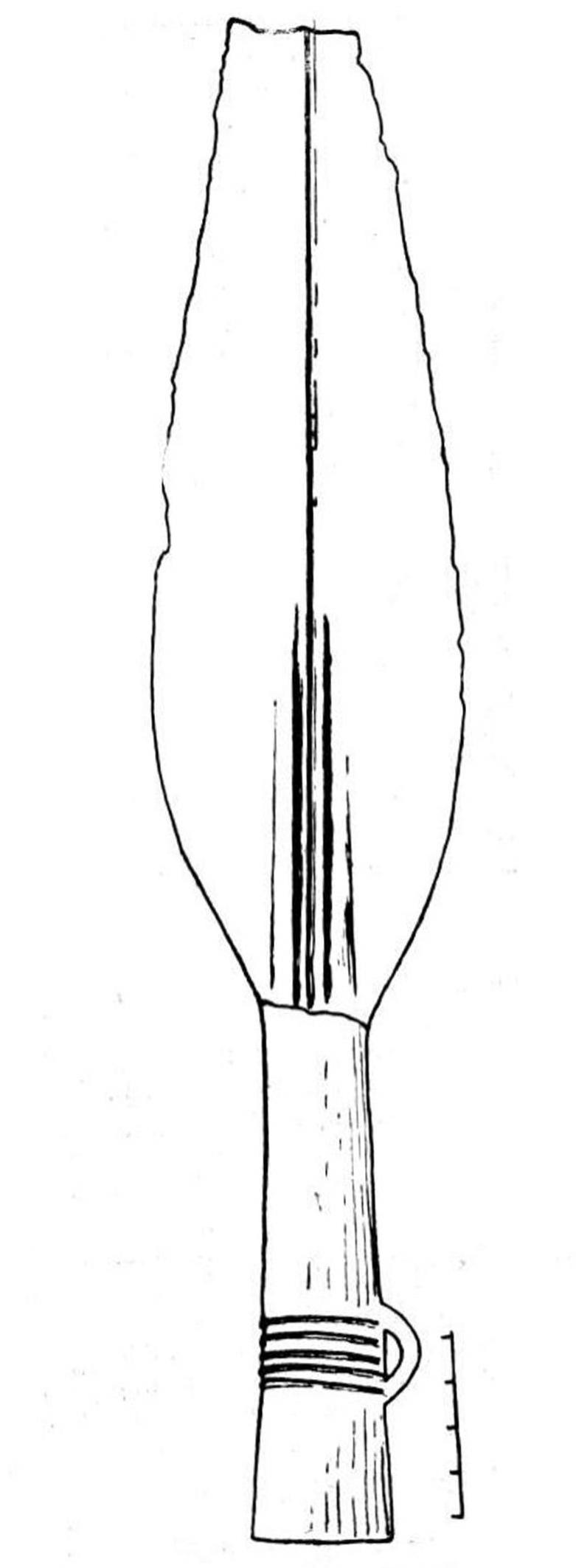 Рис. 17. Бронзовое копье с устья р. Тары.
