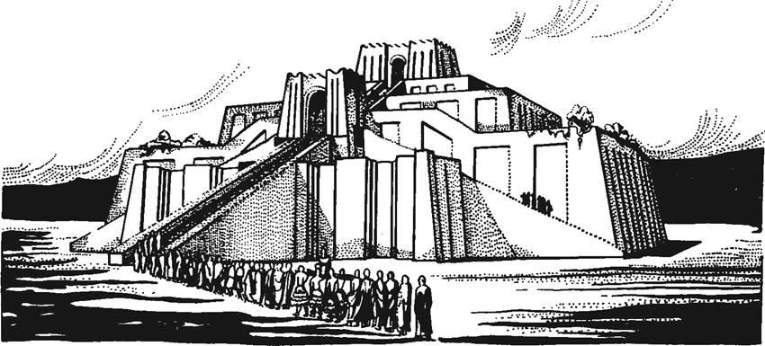 Рис. 11. Урук. Белый храм. Реконструкция.