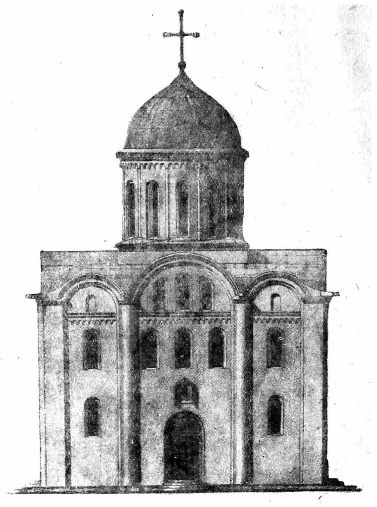 Рис. 5. Западный фасад Успенского собора в г. Владимире Волынском (реставрация).