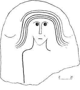 Рис. 111. Реалистическое изображение на плите. Енисей, Усть-Есь [Вадецкая, 1967]