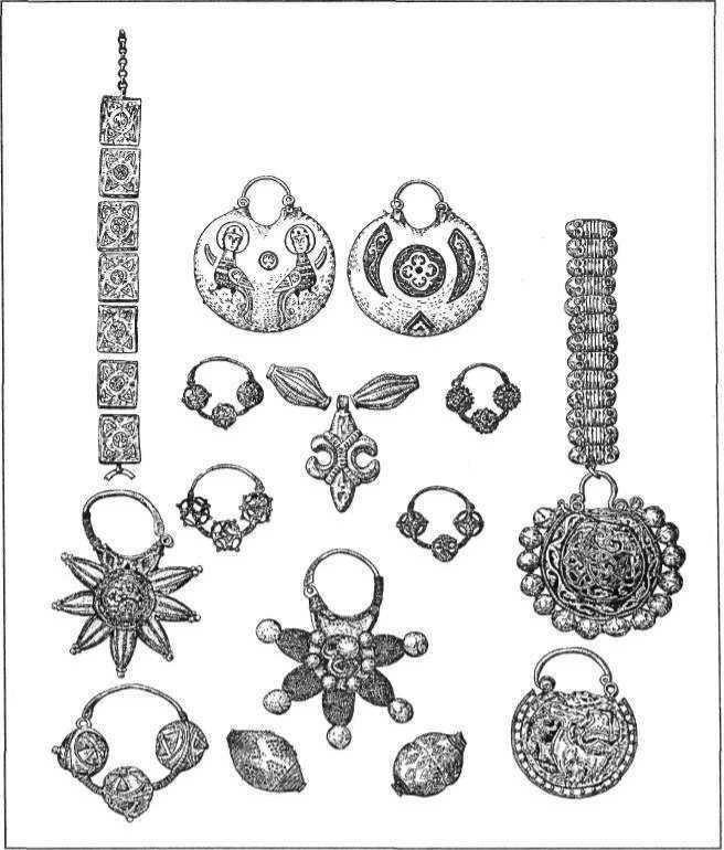 Рис. 17. Вироби давньоруських ювелірів