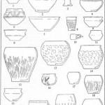 Рис. 17. Кераміка вельбарської культури (1—14); ліпний посуд вельбарсько-пшеворського типу на черняхівських пам'ятках (15—22)