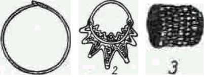 Височные кольца кривичей (1) и радимичей (2).