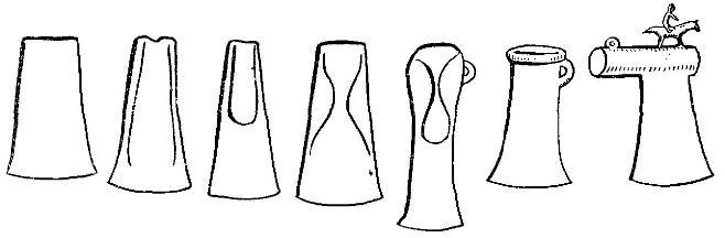 Эволюция металлического топора в энеолите и бронзовом веке