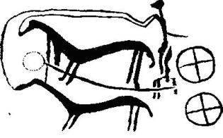 Вырезанное на камне изображение колесницы. Ок. 1200 г. до н. э. Южная Швеция