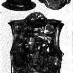 Шлем, маска и латы из позднегальштатского погребения