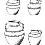 Рис. 5. Керамика, сопровождавшая погребения с трупосожжением VIII—IX вв. (с. Свистуново близ Днепро¬петровска)