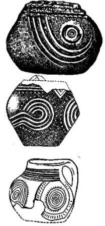 Рис. 137. Керамика культуры Moндзее (1/3).