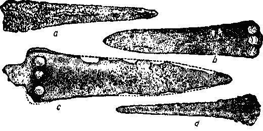 Рис. 13. Кинжалы C. М. I и II. По Эвансу.