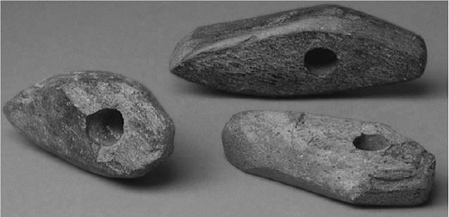"""Каменные """"боевые топоры"""" культуры шнуровой керамики из погребения в Эйлау, Германия"""