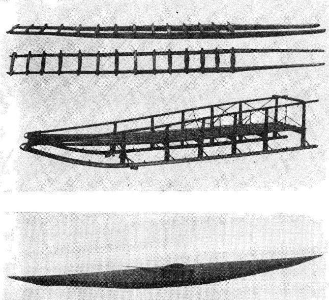 Эскимосские сани и кожаная лодка - каяк