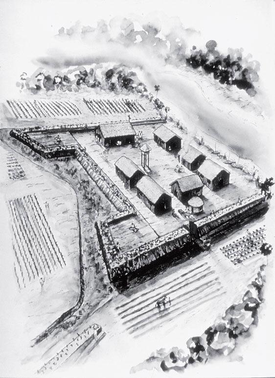 Рис. 1.6. Поселение Форт Моус середины XVIII века