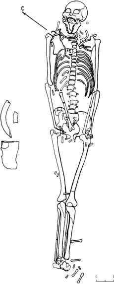 Рис. 2. Погребение 3, могильник Большой Мыс (по: Кирюшин, Кунгурова, Кадиков, 2000)