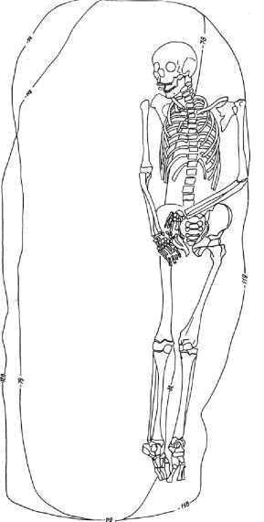 Рис. 3. Погребение 18, курган 20 Большеказакбаевского могильника 2 (по: Корякова и др., 1999)