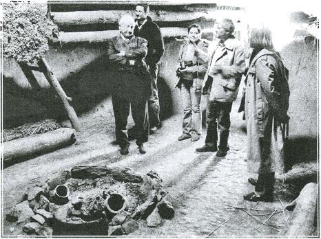 Посещение заповедника французским археологом Анри де Люмле. Аркаим, 2007 г.