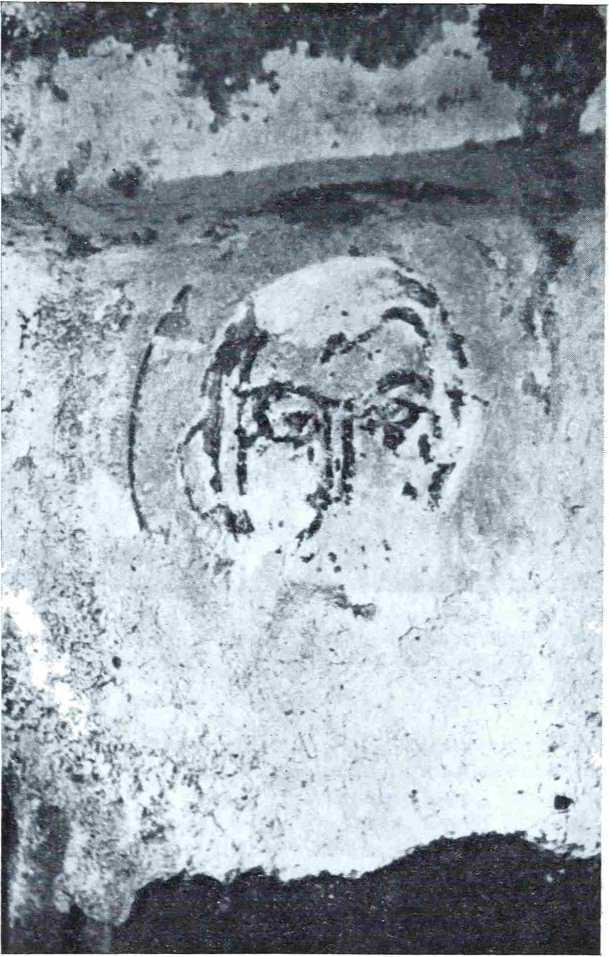 Рис. 8. Остатки фрески на восточной поверхности северо-восточного пилона