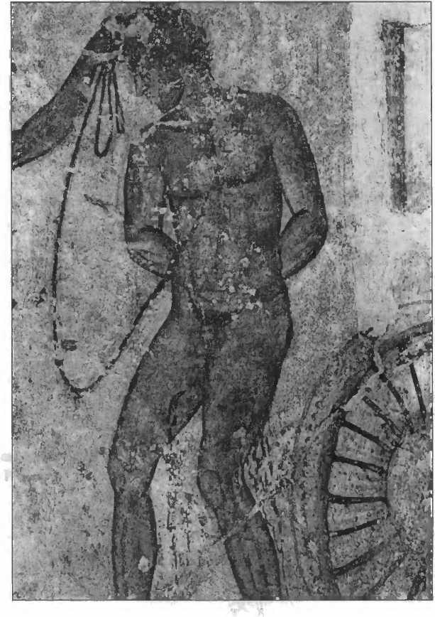 Принесение в жертву троянского пленника. Фреска гробницы Франсуа из Вульчи. III в. до н.э.