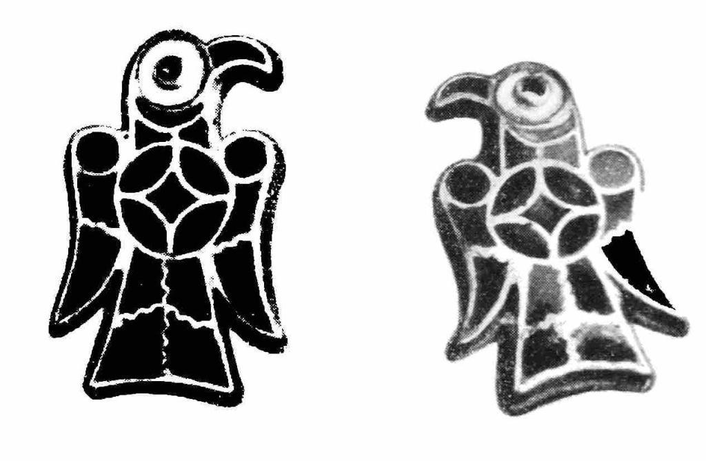17. Щитки фибул в виде птиц из Рима