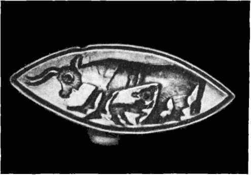 4. Кольцо с изображением коровы с теленком из некрополя Сен Анжело Миксаро
