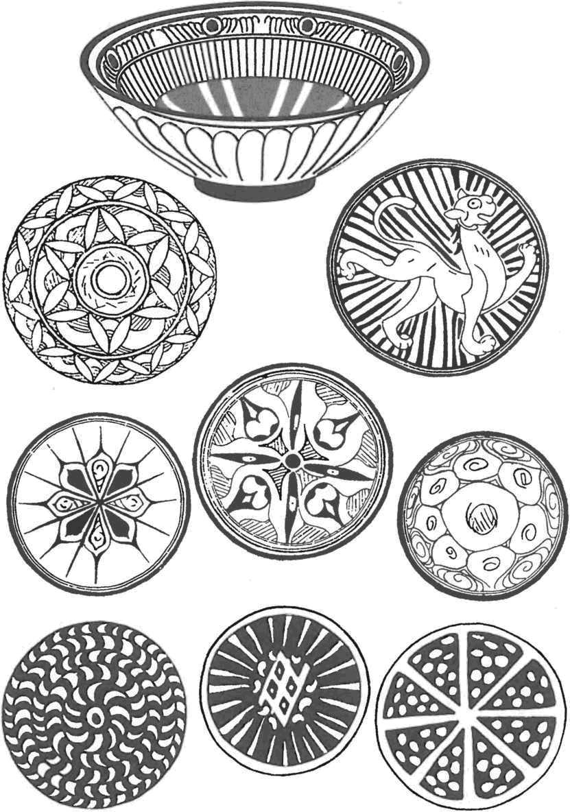 Поливная керамика. Чаша и варианты росписи